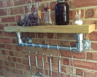 Industrial Kitchen Shelf and Rail