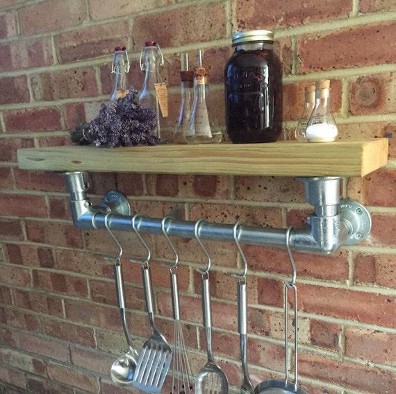 Industrial Kitchen Shelf And Rail