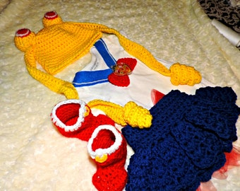 Sailor Moon Crochet Baby Outfit