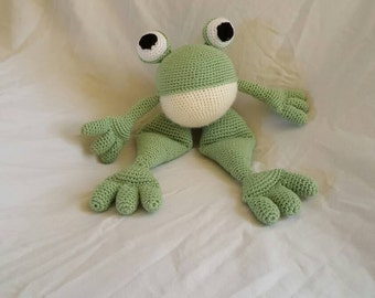 Crochet frog stuffed animal
