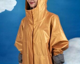 Golden oversize raincoat
