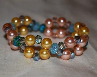 Satin Luster Glass Pearl Beads Bracelet