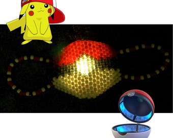 Pokeball LED Kandi Mask