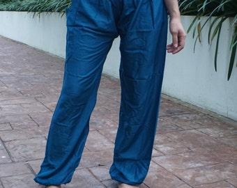 Harem pants yoga pants hippie pants cozy pants Indigo