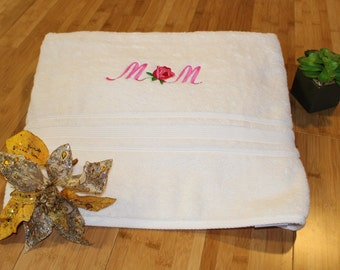 Embroidered Towel for Mom
