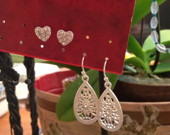 My Sweet heart Earrings 2 for 10  with Free Shipping Great gift for her