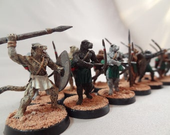 Painted Leopard Warrior Miniatures (from the 'Hundred Kingdoms' line)