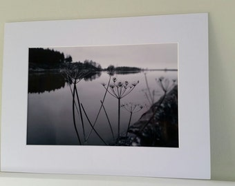 Ridgegate Reservoir in Black & White Photo Print.