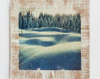 Nature photo print, Mountain art print, Nature decor, Gift for women, Blue White, Snow, Winter, Landscape photography, Nature photography