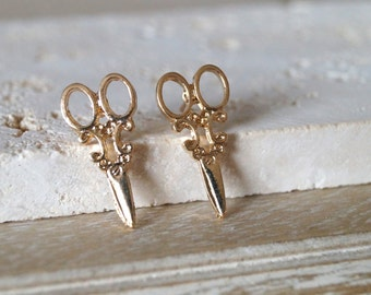 Scissor Earrings - Gold or Silver Pair Of Scissor Earrings