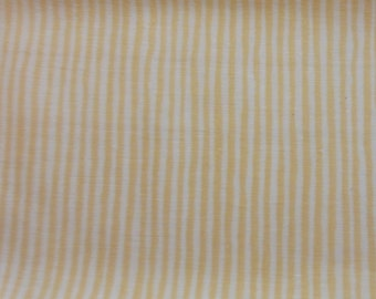 Bright Yellow Stripe Quilt/Craft Fabric - Vintage - 1/2 Yd.