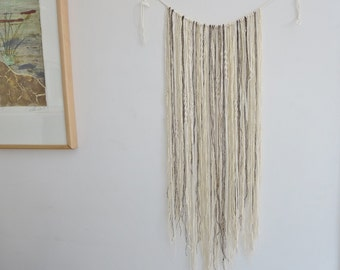 Macrame Wall Hanging,Bohemian Macrame, Boho Chic, Cotton, Raw Wool, Fringe ,Macrame curtain,Interior Design Trends