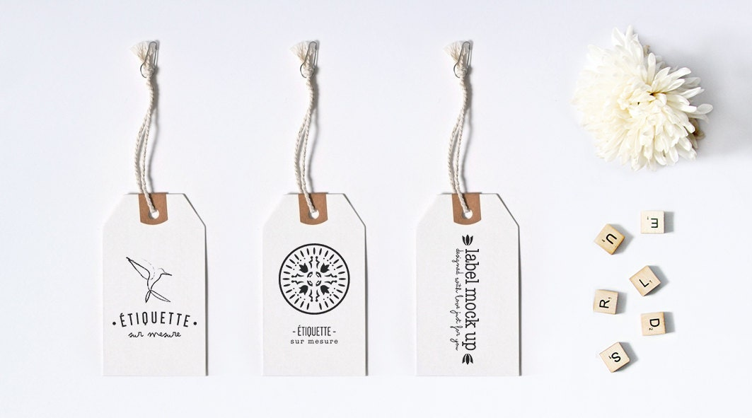 Clothing Tags: Custom Hang Tag Custom Price Tag Graphic Design Hang Tag