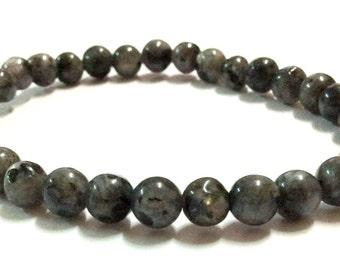 Genuine Black Quartz Yoga Mala Bracelet - Natural Spirited Stones Bracelet - Healing Stones Bracelet - Stretch Bracelet