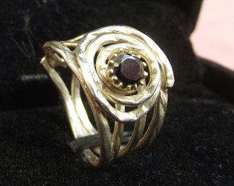 925 sterling silver ring with black onyx precious stone, precious women ring, silver onyx ring, handmade women ring