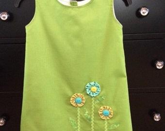 Girls Dress / Toddler Dress / Girls Shift Dress / Size 5T