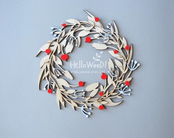 Wooden Christmas Wreath Decoration
