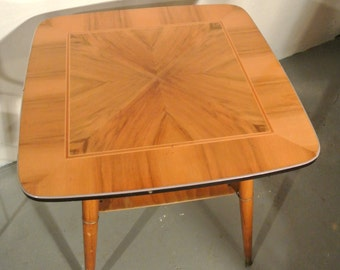 50s wood side table