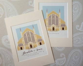 St Peter's Church Ealing Illustrated Print