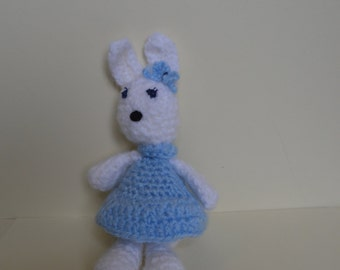 Crochet rabbit, soft toy, amigurumi