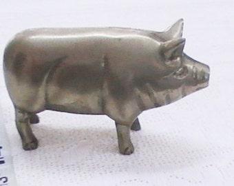 Vintage Brass Farm Pig