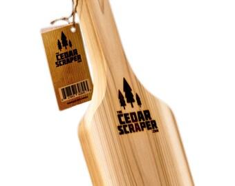 Grill Scraper - The Safe All-Natural Bristle Free Cedar Wood BBQ Grill Scraper