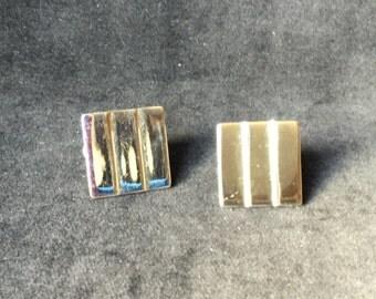 Vintage Napier Silver tone Earrings