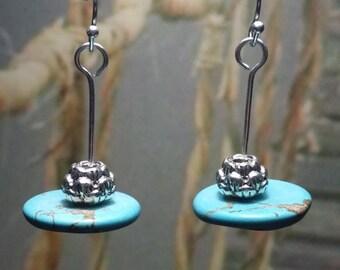 Silver Lotus Dangles