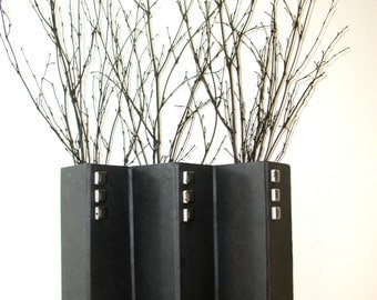Handmade paper wall vase