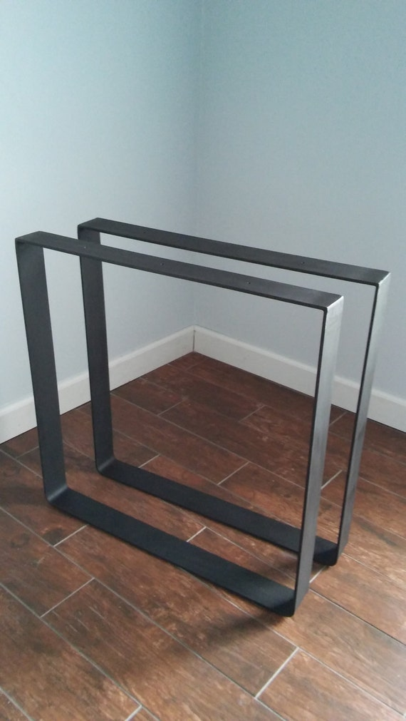 Rustic Steel Dine Table Base 1 4 Thick Flat Bar With Top Cross