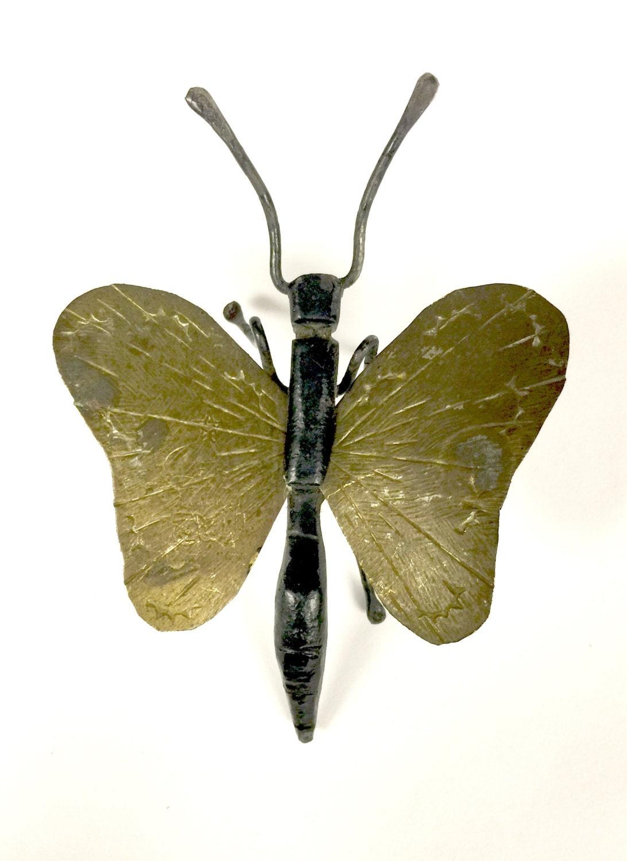 folk art metal butterfly by sandystrinkets on etsy