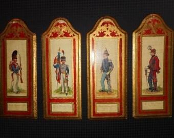 Set of Four Florentine Gilt Military Plaques