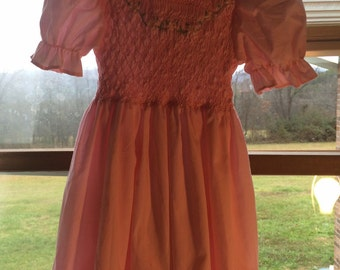 Vintage girls Easter dress