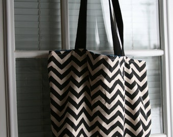 Large Chevron Tote Bag big enough to hold music folders