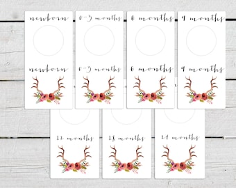 Diy baby closet dividers printable roselawnlutheran for Clothes divider template