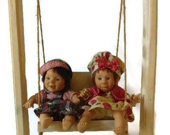 1980'bean dolls/Boy and Girl dolls set /Heart Dolls/Vintage dolls/Collectible dolls/Valentine's Gift