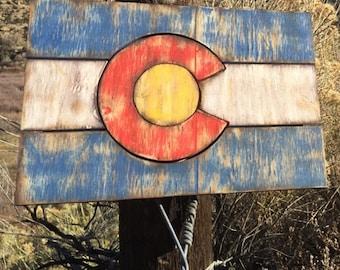Distressed Colorado Flag