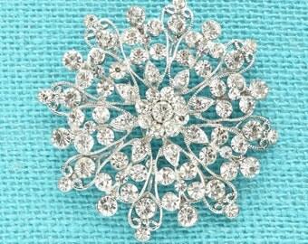 Silver Crystal Rhinestone Brooch Wedding Accessories Bridal Brooch bouquet Hair comb DIY