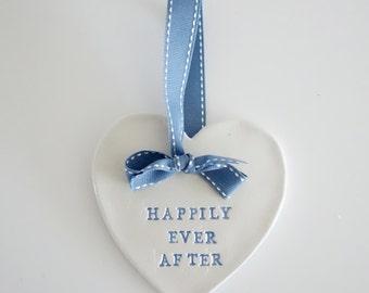 Wedding gift, wedding plaque, handmade, keepsake, happily ever after - Love Heart Plaque, wedding gifts, wedding ideas, fairy tale