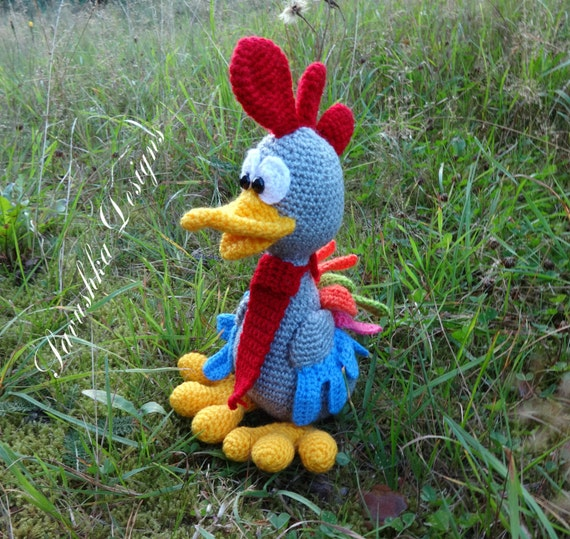 Amigurumi Crochet rooster doll Chickens toy cock crochet toy