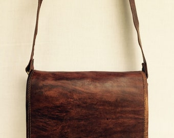Leather Satchel // Gorgeous Handmade Leather Satchel // Leather Bag