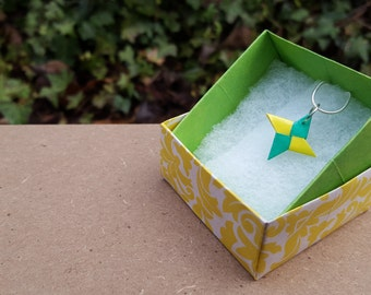 Origami Shuriken Necklace