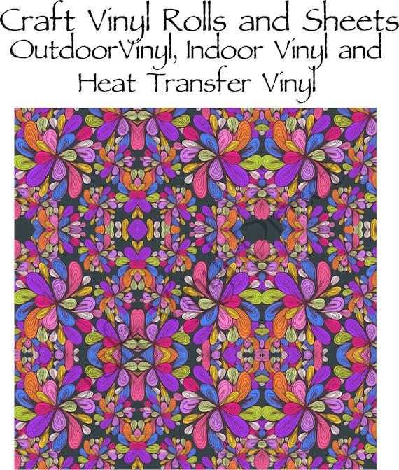 Beautiful, Vibrant Craft Vinyl in Multi Color Tear Drop Pattern 213