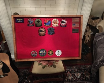Patch Display / Military Shadow Box