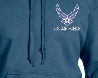 Air Force Custom Embroidered Emblem on Hoodie