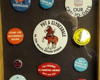 vintage Budweiser pins