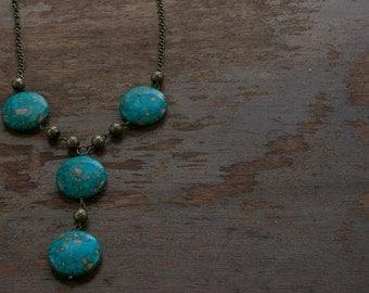 Vintage Turquoise Leopard Necklace