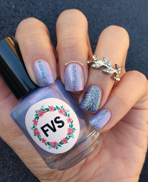Opalescent Nail Polish: Serene Iridescent Purple Nail Polish Holographic By