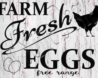 Farm Fresh Eggs SVG, PNG, JPEG