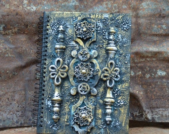 Steam Punk Mixed Media Note Book